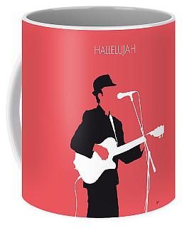 No042 My Leonard Cohen Minimal Music Coffee Mug