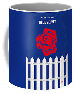 No170 My Blue Velvet Minimal Movie Poster Coffee Mug
