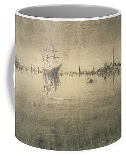 Boat Silhouette Drawings Coffee Mugs