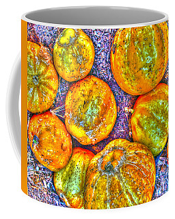 Noisy Lemon Cucumbers Coffee Mug by Joe Schofield