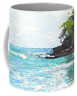 Coffee Mug featuring the painting Noosa Heads Main Beach Queensland Australia by Chris Hobel
