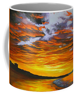 Coffee Mug featuring the painting Noosa Sunset by Chris Hobel