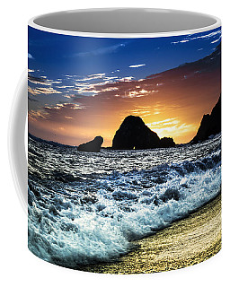 Norcal Sunset On Jenner Beach Coffee Mug