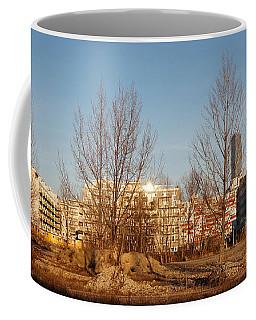 Nordbahn Vienna East Skyline Coffee Mug by Menega Sabidussi