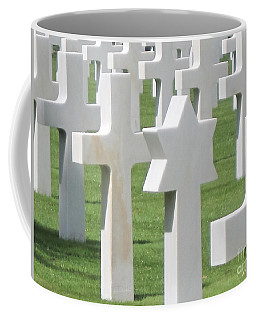 Normandy American Cemetery Coffee Mug by HEVi FineArt