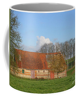 Normandy Storm Damaged Barn Coffee Mug by HEVi FineArt