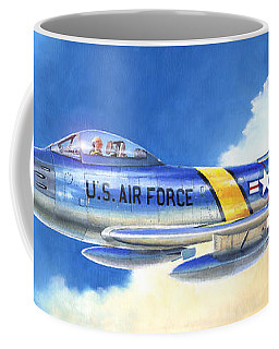 North American F-86f Sabre Coffee Mug