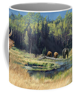 North American Waterhole Coffee Mug