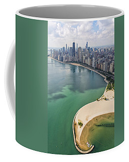 North Avenue Beach Chicago Aerial Coffee Mug