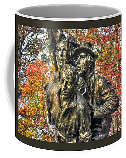 Coffee Mug featuring the photograph North Carolina At Gettysburg - Picketts Charge - Leaving The Safety Of The Mc Millan Woods by Michael Mazaika