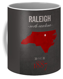 North Carolina State University Wolfpack Raleigh College Town State Map Poster Series No 077 Coffee Mug