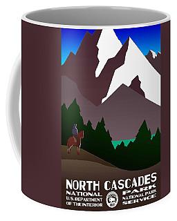 North Cascades National Park Vintage Poster Coffee Mug