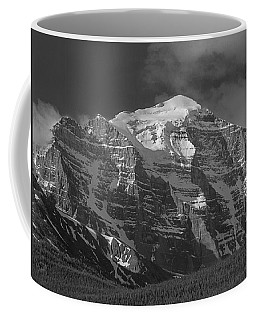 203553-north Face Mt. Temple Bw Coffee Mug