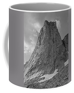 109649-bw-north Face Pingora Peak, Wind Rivers Coffee Mug