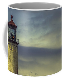 North Head Lighthouse Coffee Mug by Jean OKeeffe Macro Abundance Art