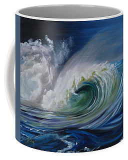 Coffee Mug featuring the painting North Shore Curl by Donna Tuten