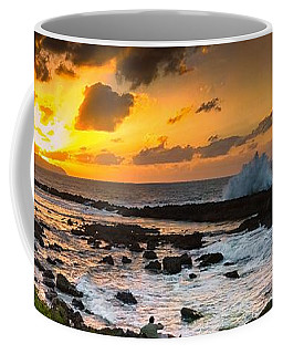 North Shore Sunset Crashing Wave Coffee Mug