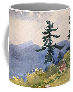 Coffee Mug featuring the painting North Woods Club by Winslow Homer
