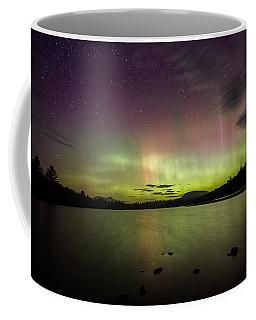 Northern Lights Over Ricker Pond Coffee Mug