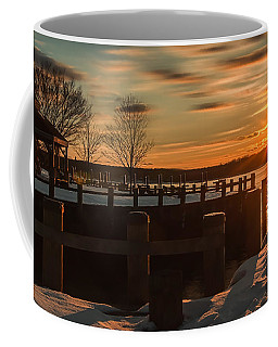 Northport New York Winter Sunset Coffee Mug