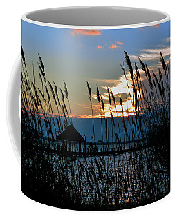 Coffee Mug featuring the photograph Ocean City Sunset At Northside Park by Bill Swartwout