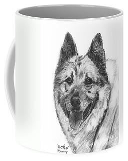 Norwegian Elkhound Sketch Coffee Mug