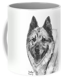 Norwegian Elkhound Sketch Coffee Mug