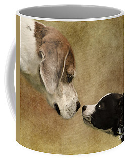 Nose To Nose Dogs Coffee Mug by Linsey Williams