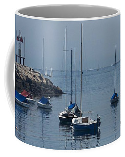 Coffee Mug featuring the photograph Sail Boats  by Eunice Miller