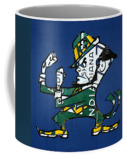 Notre Dame Fighting Irish Leprechaun Vintage Indiana License Plate Art  Coffee Mug