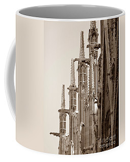 Notre Dame Sentries Sepia Coffee Mug by HEVi FineArt