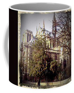 Coffee Mug featuring the photograph Notre Dame Vintage by Glenn DiPaola