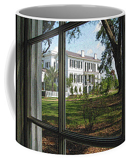 Coffee Mug featuring the photograph Nottoway Through The Window by Nadalyn Larsen