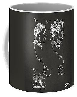 Novelty Wig Patent Artwork Gray Coffee Mug
