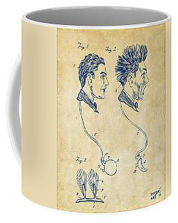 Novelty Wig Patent Artwork Vintage Coffee Mug