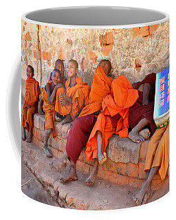 Novice Buddhist Monks Coffee Mug by Venetia Featherstone-Witty
