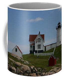 Coffee Mug featuring the photograph Nubble Light House York Maine by Denyse Duhaime