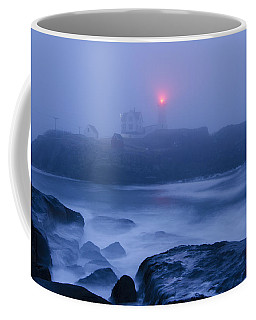 Nubble Light In Foggy Dawn Coffee Mug