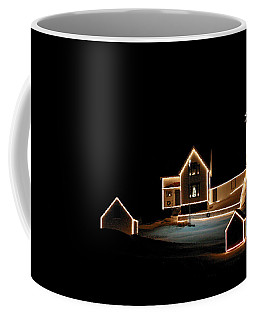 Nubble Lighthouse Christmas Lights Coffee Mug