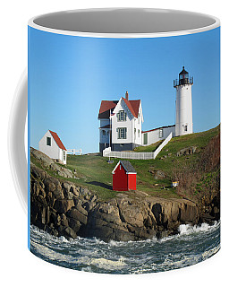 Coffee Mug featuring the photograph Nubble Lighthouse One by Barbara McDevitt