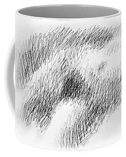 Coffee Mug featuring the drawing Nude Female Abstract Drawings 1 by Gordon Punt