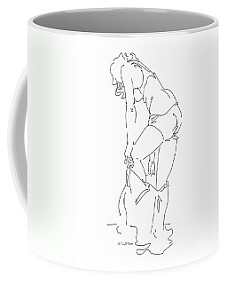 Coffee Mug featuring the drawing Nude Female Drawings 1 by Gordon Punt