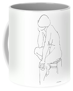 Coffee Mug featuring the drawing Nude Female Drawings 12 by Gordon Punt