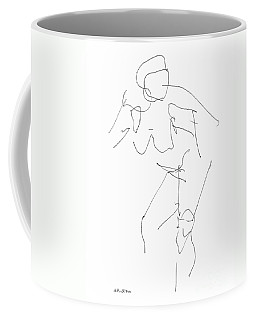 Coffee Mug featuring the drawing Nude Female Drawings 14 by Gordon Punt