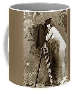 Nude In High Heel Shoes With Studio Camera Circa 1920 Coffee Mug