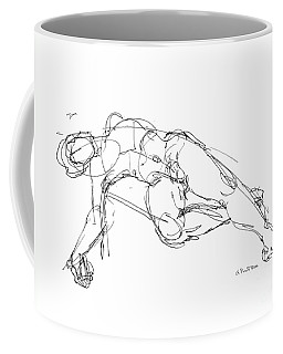 Coffee Mug featuring the drawing Nude Male Drawings 1 by Gordon Punt