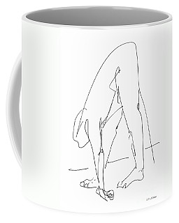 Coffee Mug featuring the drawing Nude Male Drawings 32 by Gordon Punt