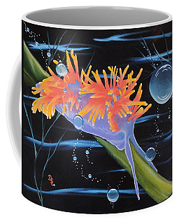 Coffee Mug featuring the painting Nudibranche by Dianna Lewis