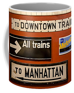 Nyc Subway Signs Coffee Mug