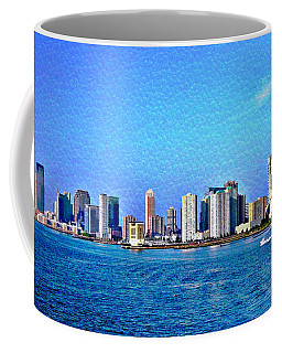 Coffee Mug featuring the photograph Nyc  The Big Apple  by Judy Palkimas
